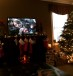 Image of Christmas tree and fireplace setting