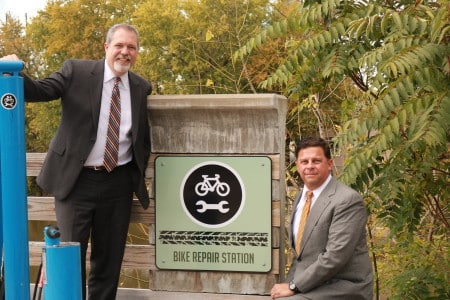 Chip Clark and Jim Browne are passionate about cyclist safety